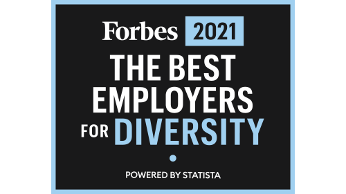 2021 Forbes' Best Employers for Diversity logo