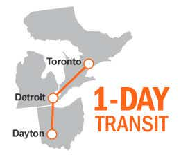 ltl shipping Dayton to Toronto