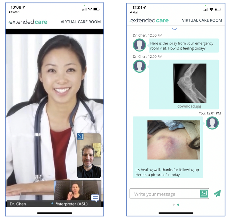 Extended Care application powered by Webex