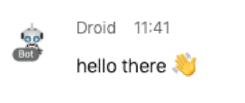 Webex Teams sample message - hello