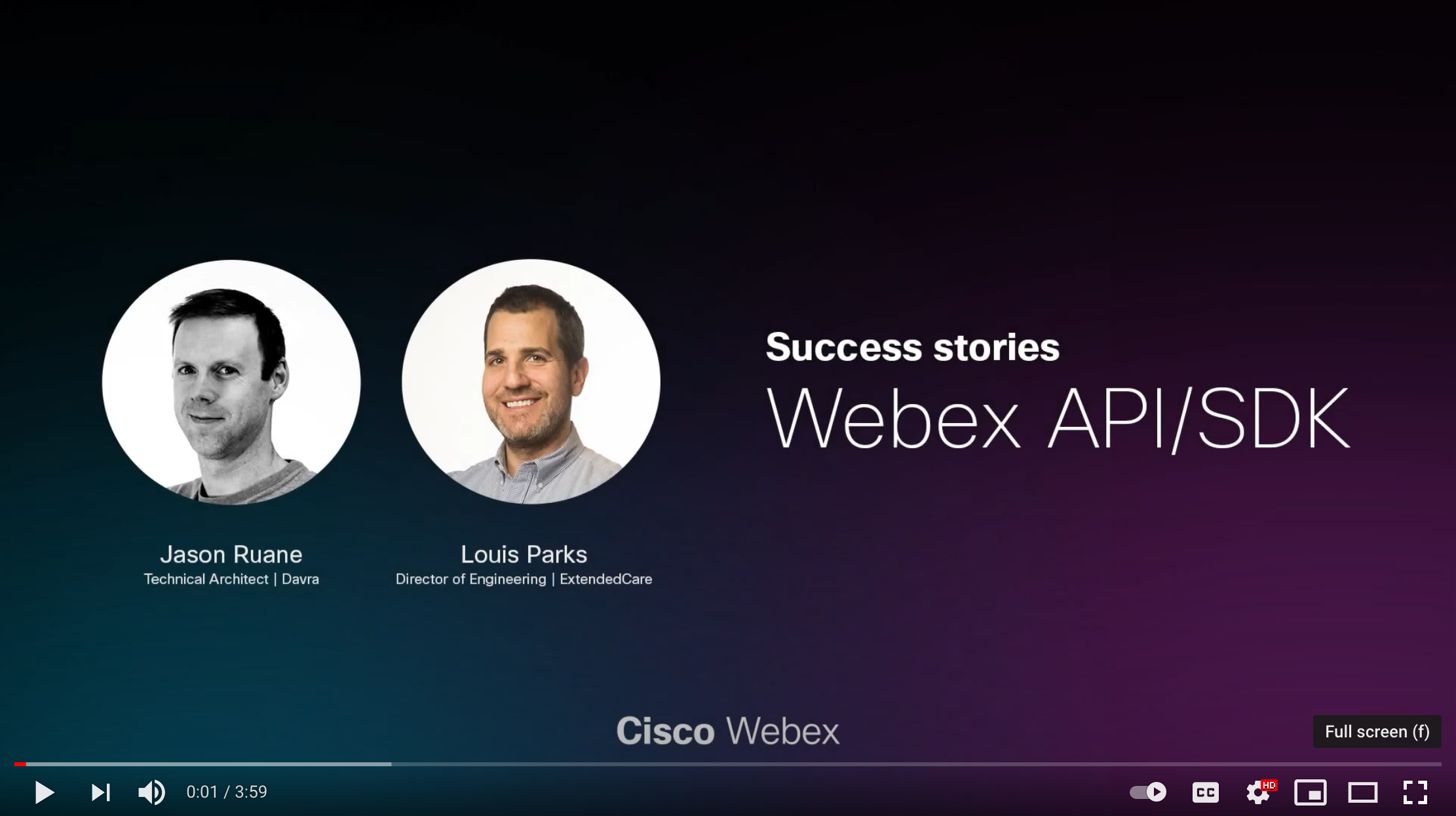 Youtube Screenshot of Webex SDK