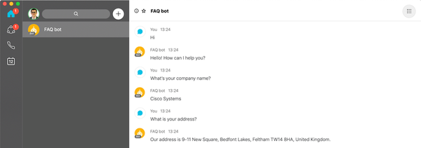 Creating a FAQ Bot in zero lines of code with Dialogflow and Webex Teams