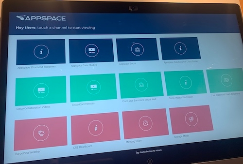 AppSpace on the Webex Board
