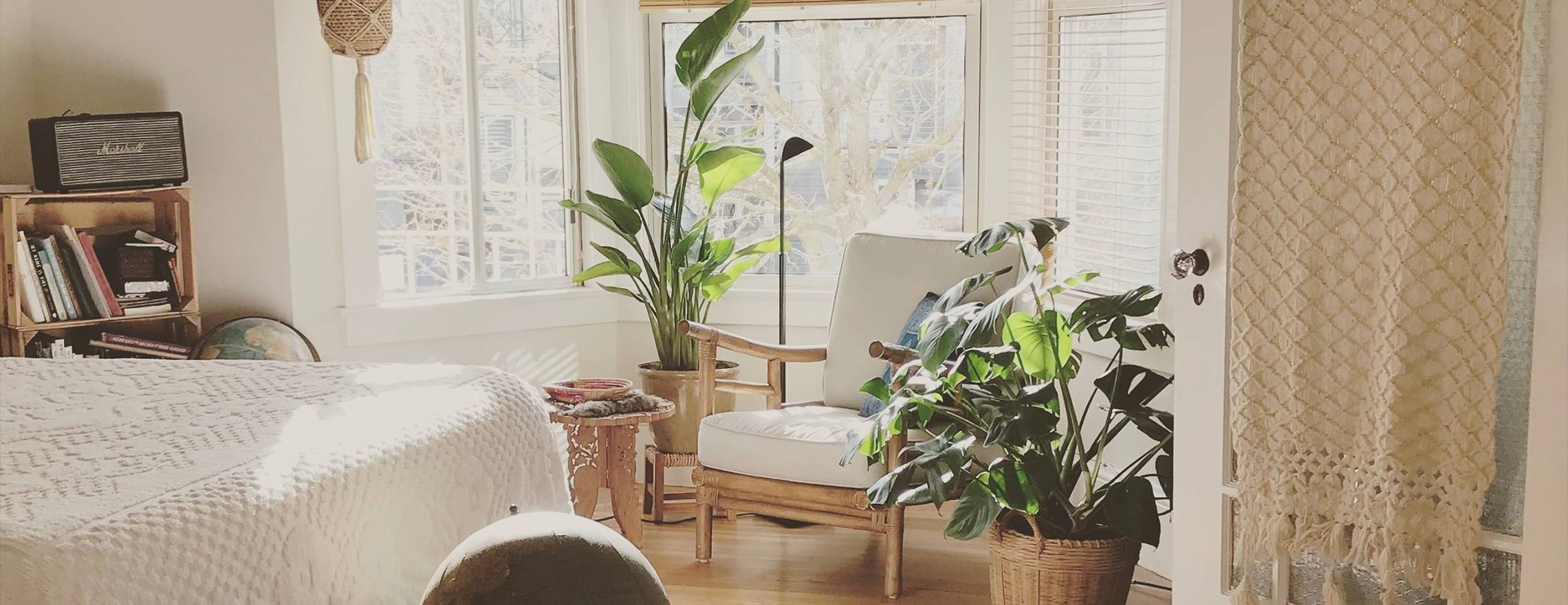 leesa_bed_in_a_decorated_room_with_bay_window_and_plants