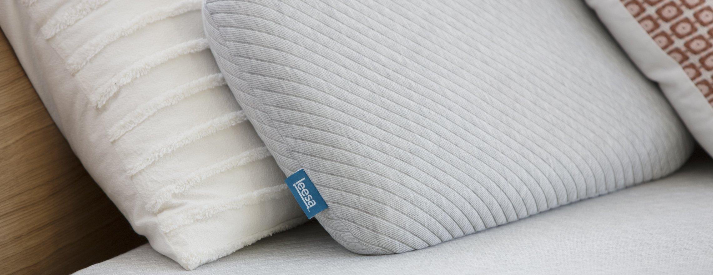 two_leesa_pillows_white_and_gray