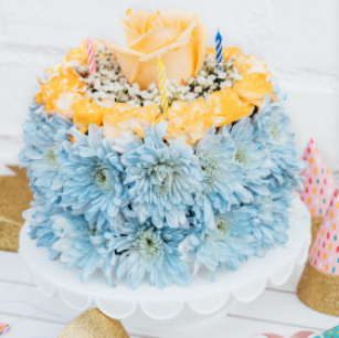 Birthday Wishes Flower Cake® Coastal