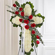 Standing Crosses, Hearts & Wreaths
