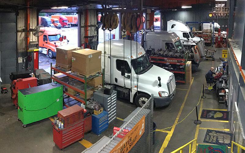 Schneider diesel mechanic maintenance garage