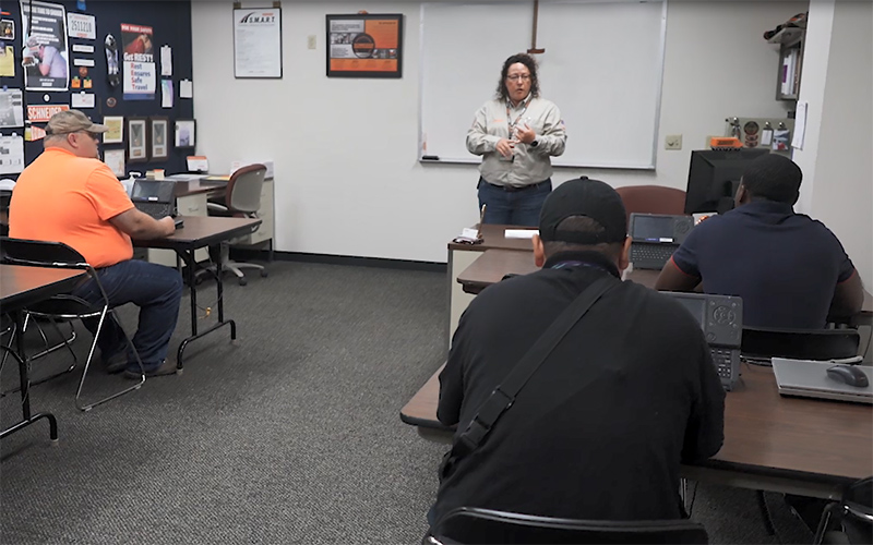 Student drivers complete the last steps of the Schneider driver hiring process.