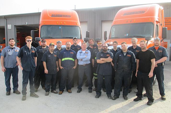 Schneider Diesel Technician Students