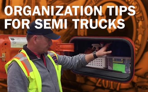 Semi truck organization ideas