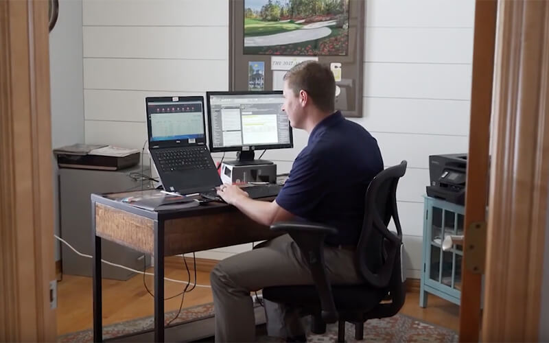 Creating a designated work space is one of the essential working from home tips.