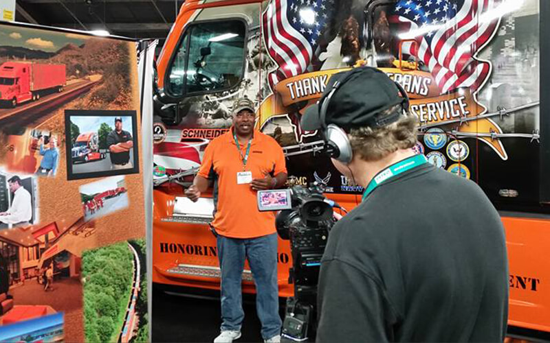 Randy Twine in front of 2014 Ride of Pride truck