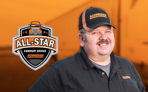 Van Dedicated driver Bill Mahanes is a Schneider All-Star.