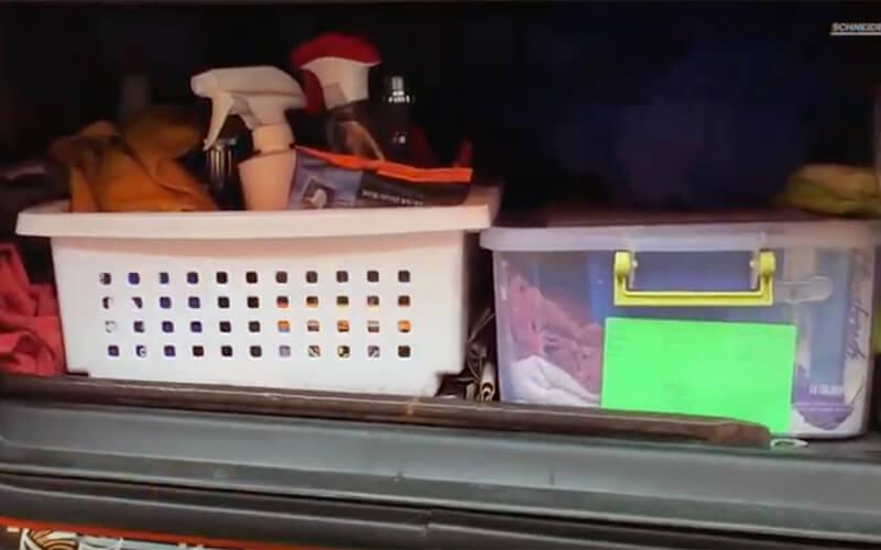 Exterior semi-truck organization ideas