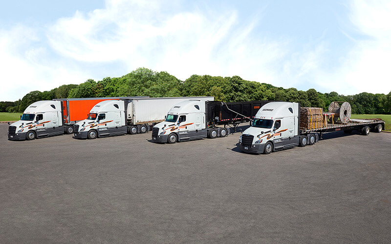 Dedicated truck driver truck