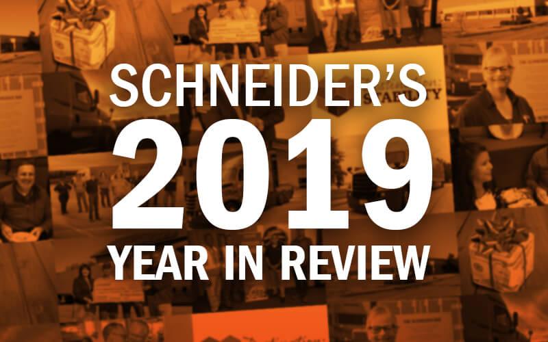 Schneider's highlights from 2019.