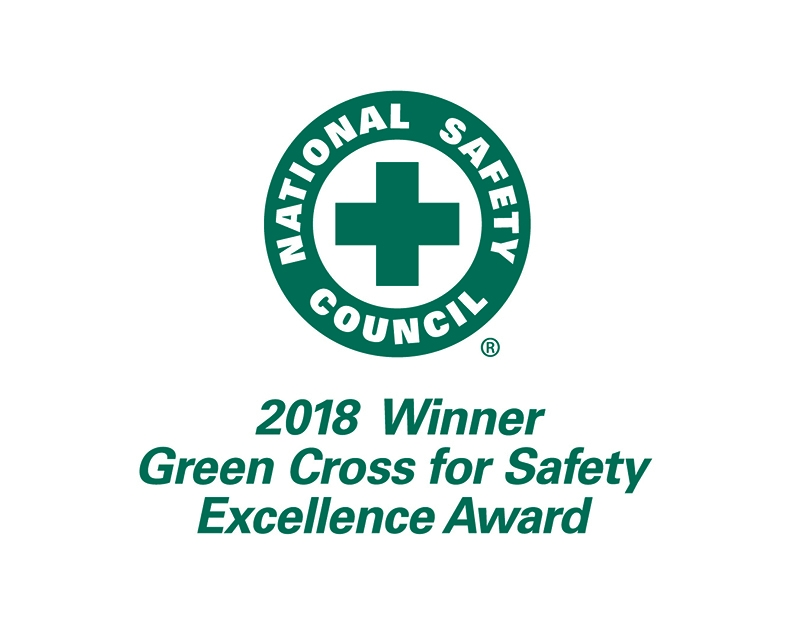 Schneider 2018 Green Cross for Safety Excellence Award