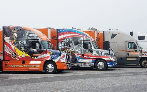 Schneider military program trucks