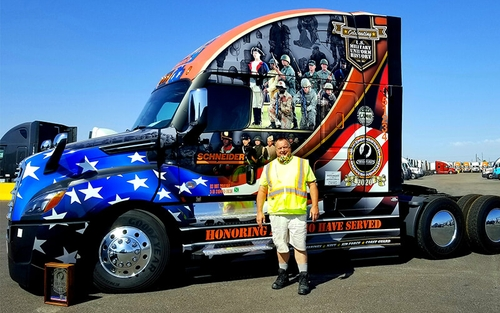 Meet Tom Lehr, a retired Marine who was chosen as Schneider's 2020 Ride of Pride driver.