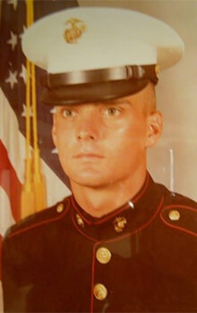 Tom Lehr served in the Marines for 22 years.