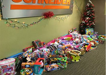 A successful toy drive for a local children's hospital