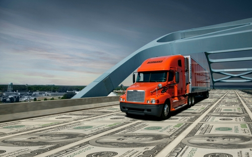 Schneider truck money bridge