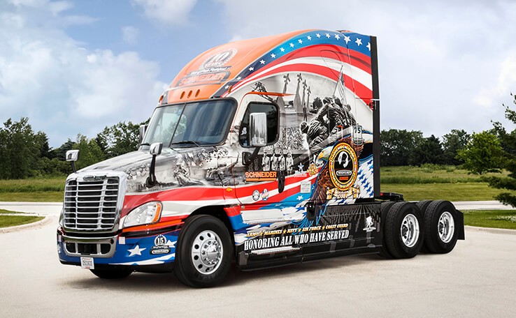Ride of Pride military tribute trucks