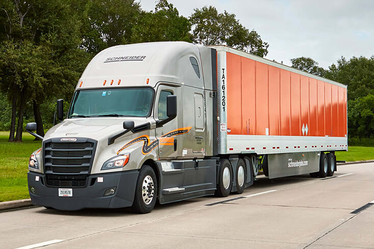 Schneider Van Truckload Part-Time Truck Driving Jobs