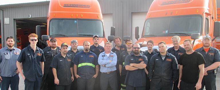 Diesel Technician Students