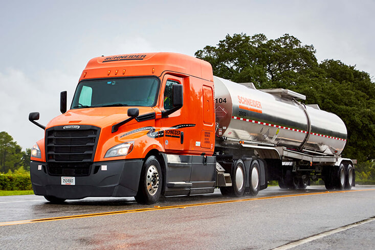 Schneider Dedicated Tanker Truck Driving Jobs
