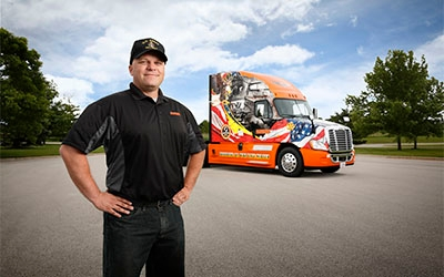 Ride of Pride Truck and Driver