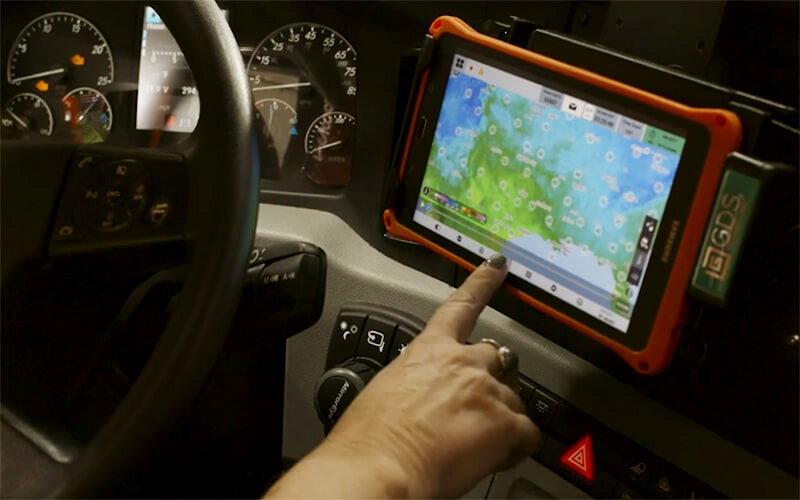 The deployment of the Samsung tablet has greatly enhanced the driver experience at Schneider.