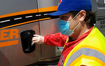Disinfect truck to avoid getting sick.
