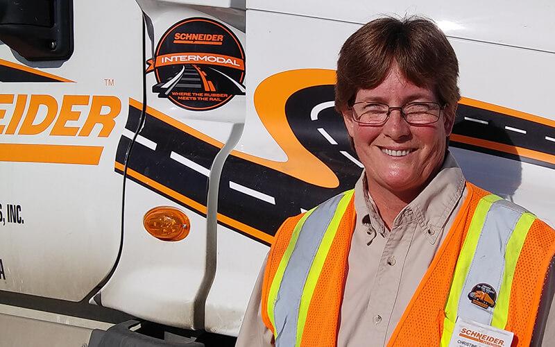 Christine Bosgraaf, Schneider Intermodal Women's Outreach Program