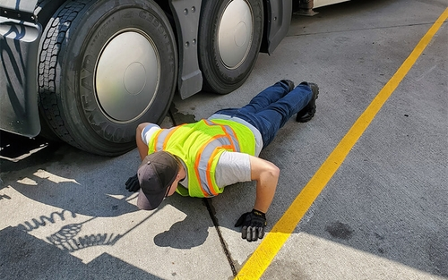 Truck driver exercise