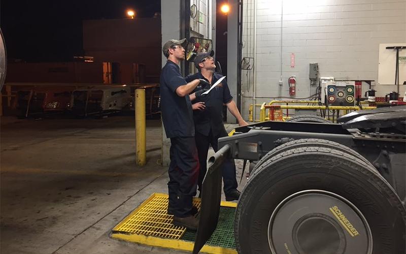 Schneider Diesel Technician Mentorship First Months