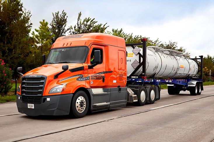 Schneider Intermodal Tanker Truck Driving Jobs