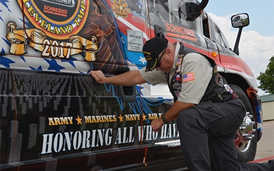 2017 Ride of Pride truck graphics