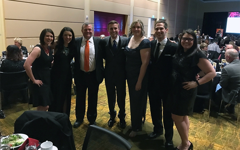 Schneider Employees accept 2017 Next Generation Best Place to Work Award
