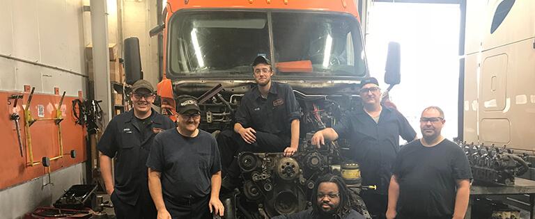 Meet Schneider's Diesel Technician Team