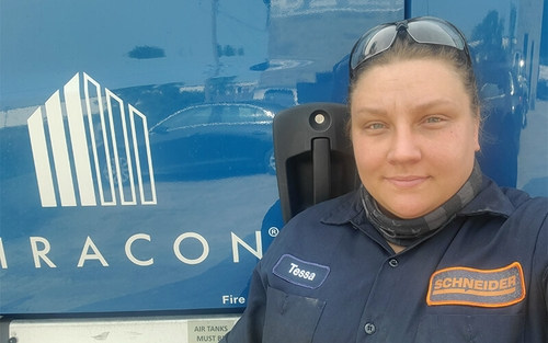 Check out Tessa Heathman's story about being a female diesel technician at Schneider.