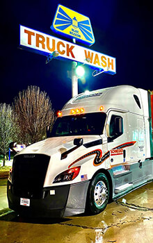 How to wash a semi truck at a Blue Beacon