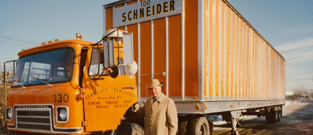 Don Schneider with truck