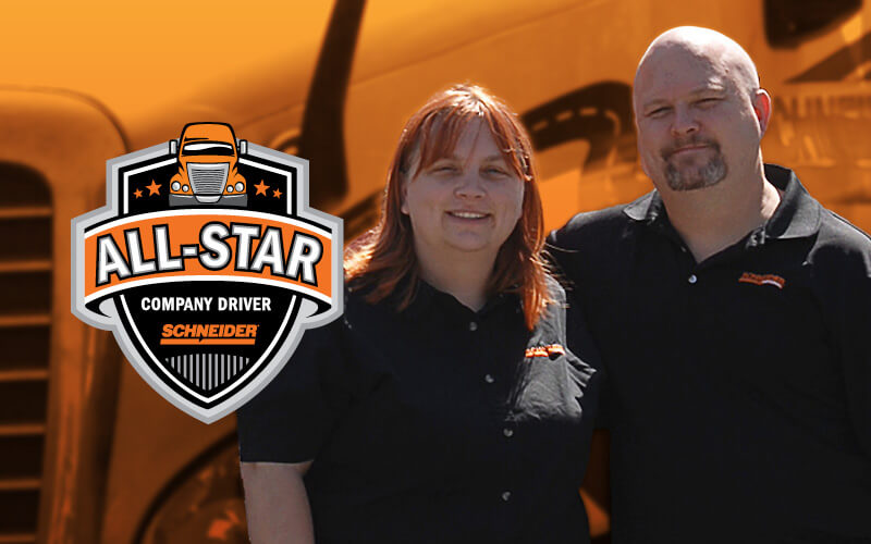 Bob and Susan Tyler are Schneider All-Star drivers.