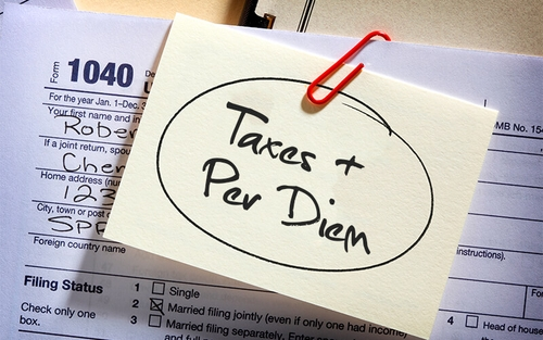 Truck driver tax form and per diem information