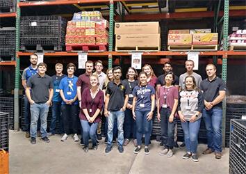 Schneider interns have the opportunity to volunteer during their internship.