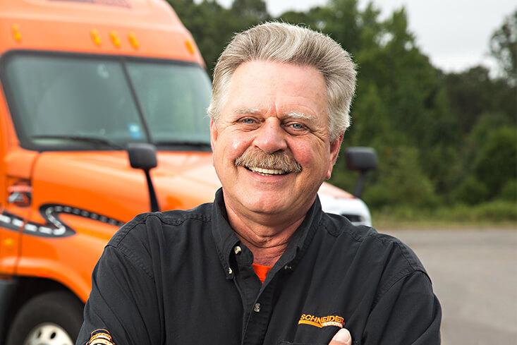 Schneider Solo Intermodal Truck Driving Job
