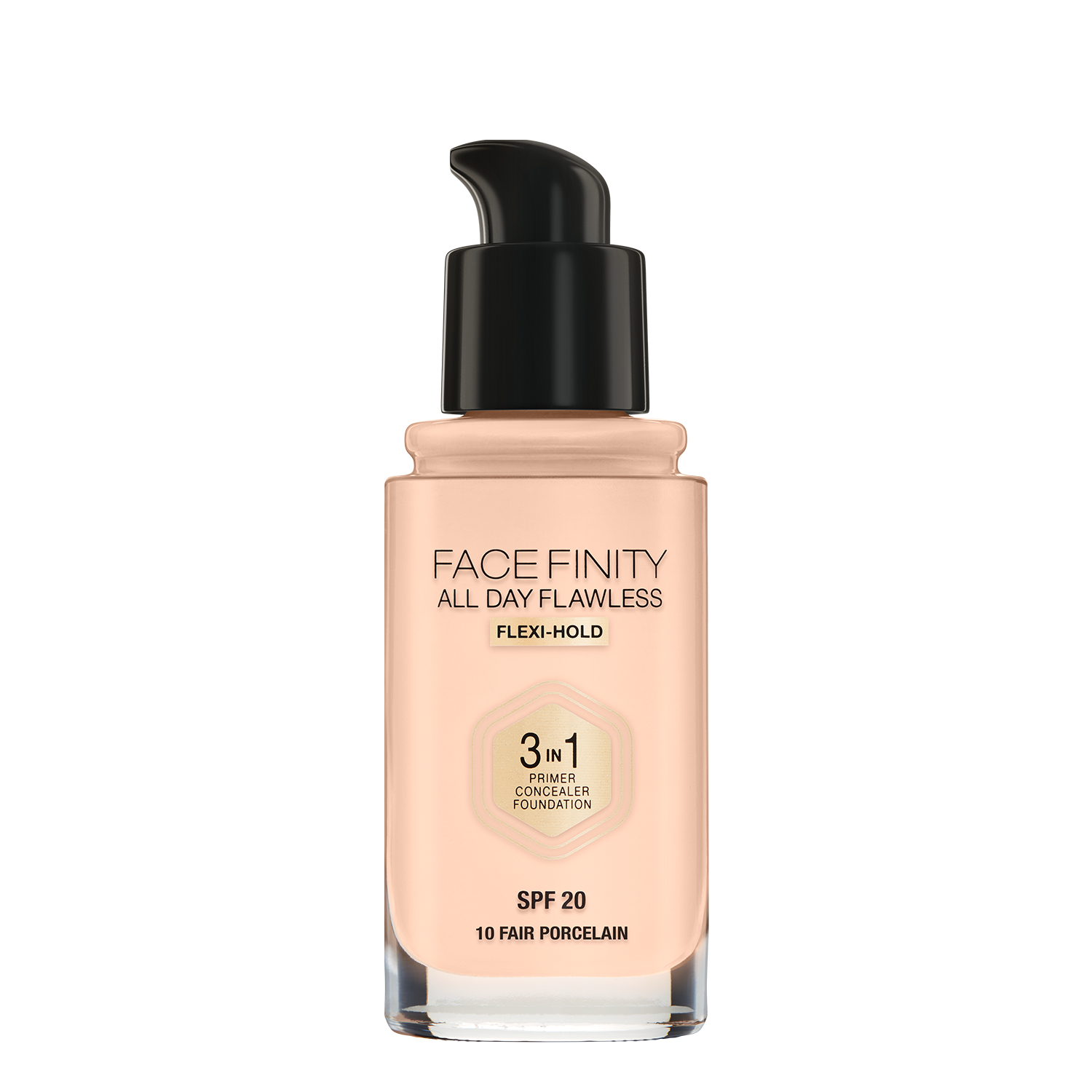Face Finity All Day Flawless 3 in 1 Foundation: Fair Porcelain