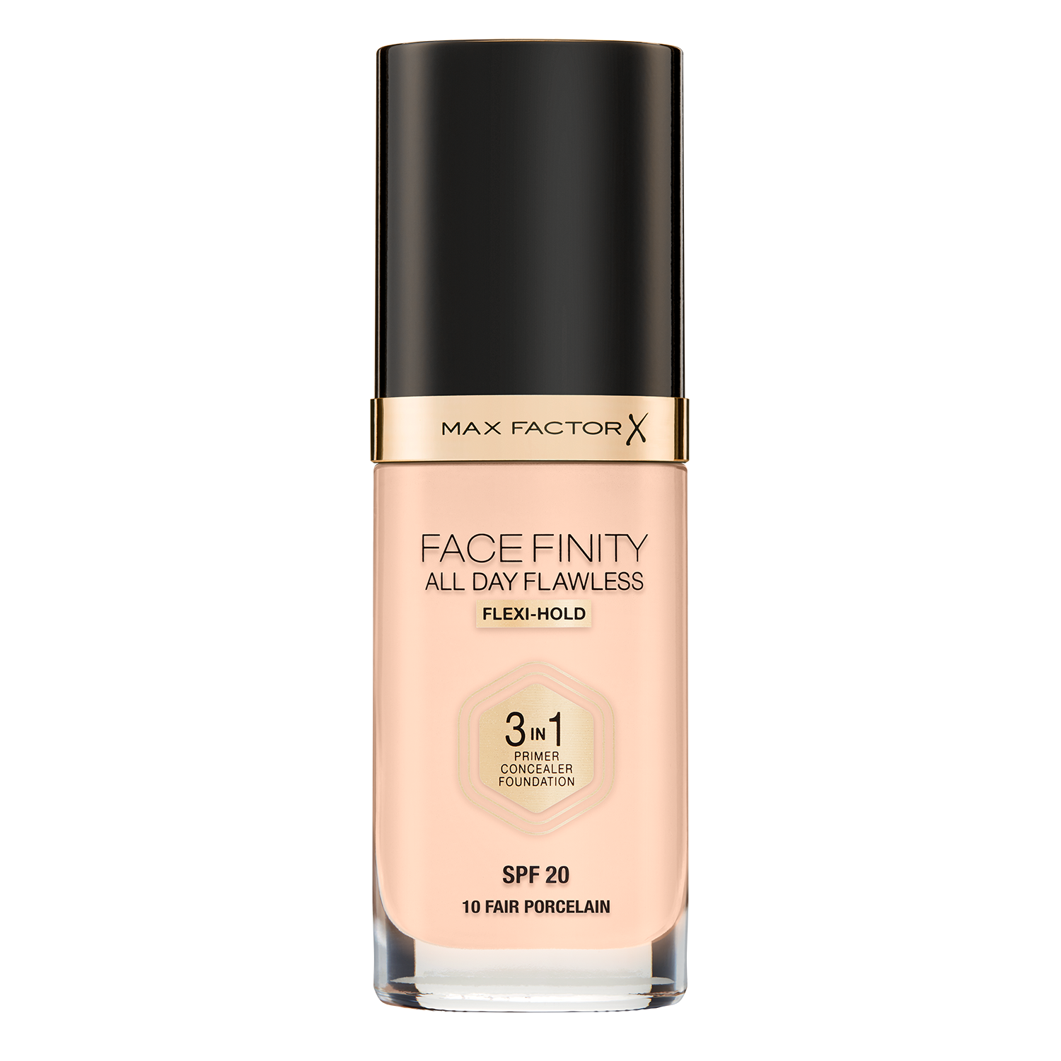 Face Finity All Day Flawless 3 in 1 Foundation: Porcelain_closed